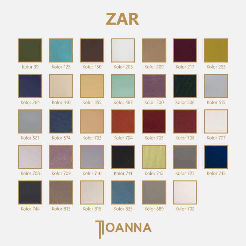 paleta kolorów tkanin zaciemniajacych