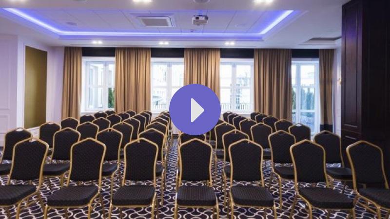 rolety rzymskie elektryczne do sali konferencyjnej hotel Royal Bialystok